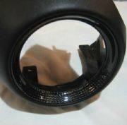 Outer airvent surrounds with carbon fibre rings